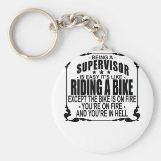Chaveiro Ser um supervisor é fácil sua equitação como uma