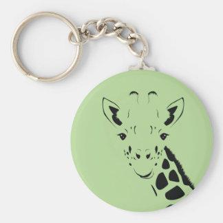 Chaveiro Silhueta da cara do girafa
