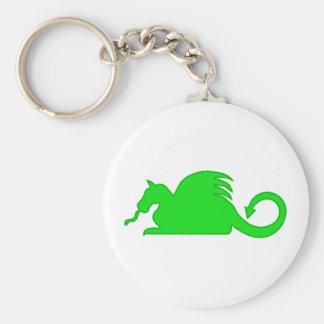 Chaveiro Silhueta do dragão verde