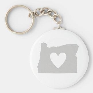 Chaveiro Silhueta do estado de Oregon do coração