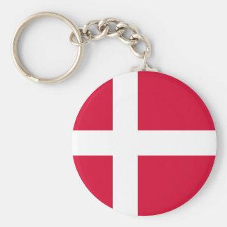 Chaveiro Símbolo da bandeira de país de Dinamarca por muito