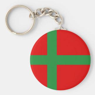 Chaveiro Símbolo da província da região da bandeira de