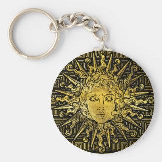 Chaveiro Símbolo de Apollo Sun no teste padrão chave grego
