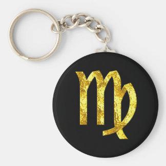 Chaveiro Símbolo do ouro do preto do sinal do zodíaco do