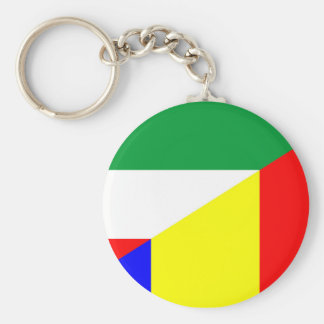 Chaveiro símbolo do país da bandeira de romania Hungria