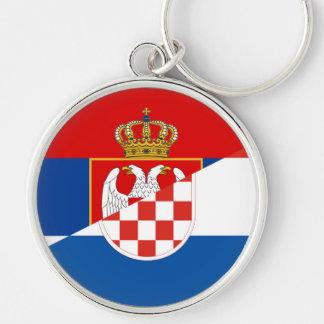 Chaveiro símbolo do país da bandeira de serbia croatia meio
