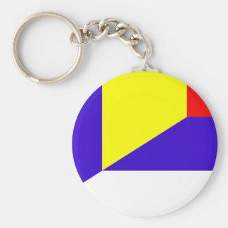Chaveiro símbolo do país da bandeira de serbia romania meio
