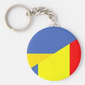 Chaveiro símbolo do país da bandeira de Ucrânia romania