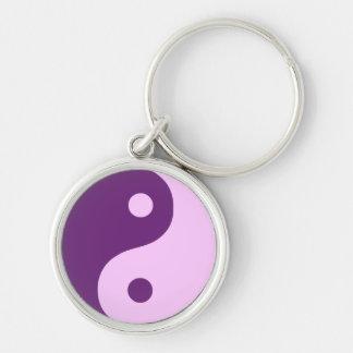 Chaveiro Símbolo roxo da taoísta de Yin Yang