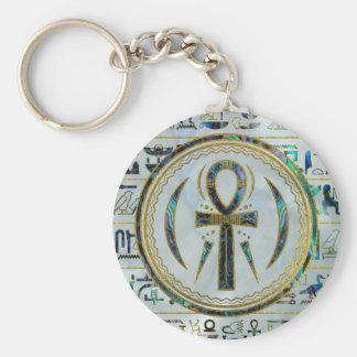 Chaveiro Símbolo transversal de Ankh do egípcio de Shell do