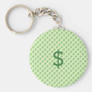 Chaveiro Sinais de dólar no verde