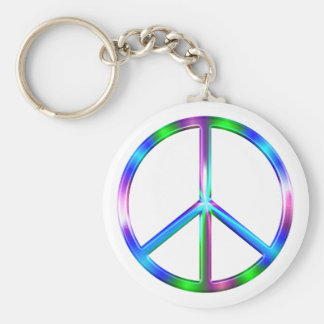 Chaveiro Sinal de paz colorido brilhante