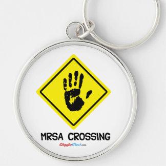 Chaveiro Sinal do cruzamento de MRSA