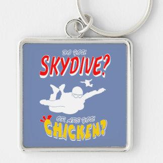 Chaveiro Skydive ou galinha? (branco)