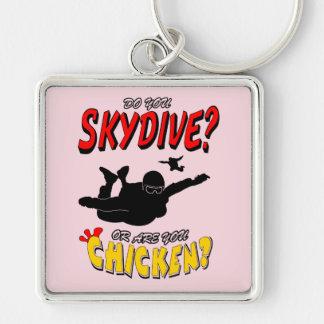 Chaveiro Skydive ou galinha? (preto)