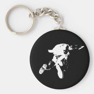Chaveiro Skydiving preto & branco