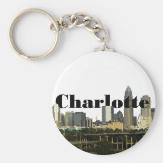 Chaveiro Skyline de Charlotte NC com o Charlotte no céu
