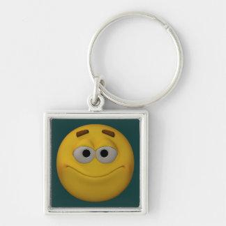 Chaveiro smiley do estilo 3D