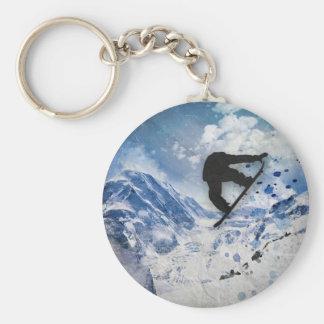 Chaveiro Snowboarder em vôo