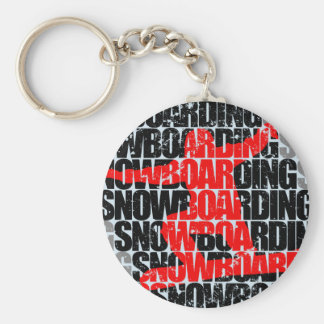 Chaveiro Snowboarding #1 (preto)