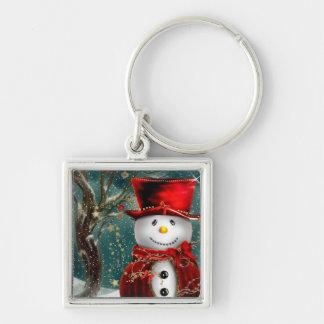 Chaveiro Snowmans bonitos - ilustração do boneco de neve