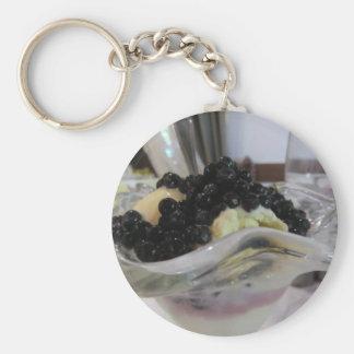 Chaveiro Sorvete da baunilha com uvas-do-monte silvestres