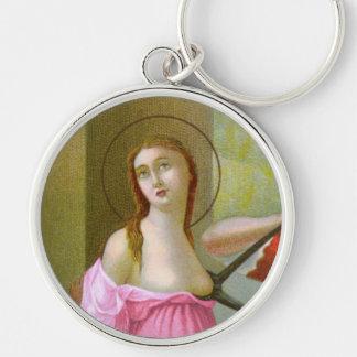 Chaveiro St. cor-de-rosa Agatha (M 003)