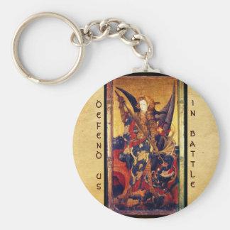 Chaveiro St Michael que vence o diabo