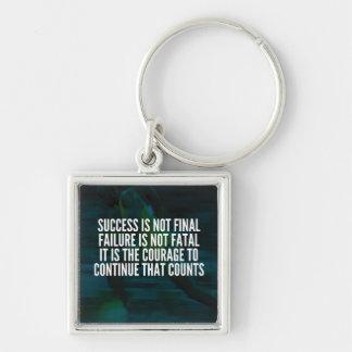 Chaveiro Sucesso, falha, coragem - exercício inspirador