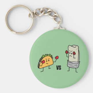 Chaveiro Taco contra o burrito