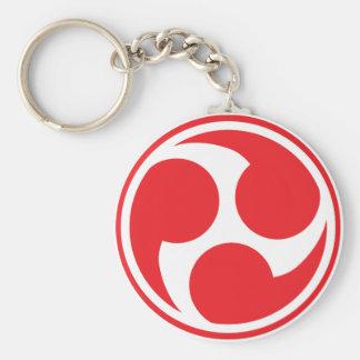 Chaveiro Taiko vermelho Mitsudomoe
