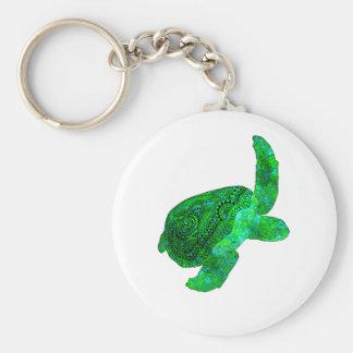 Chaveiro Tartaruga de mar verde tribal