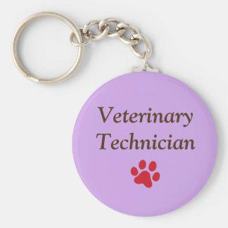 Chaveiro Técnico veterinário/impressão/roxo vermelhos da
