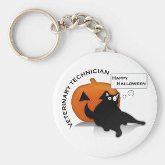 Chaveiro Tecnologia feliz do veterinário do Dia das Bruxas!