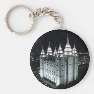 Chaveiro Templo de Salt Lake City LDS na noite