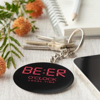 Chaveiro Tempo local da hora da cerveja