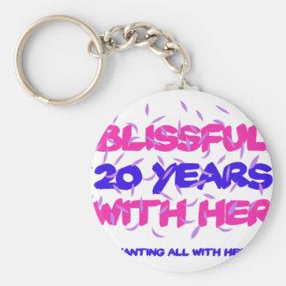 Chaveiro Tendendo o 20o design do aniversário do casamento