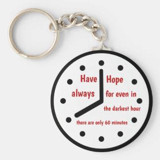 Chaveiro Tenha a corrente sempre chave da esperança
