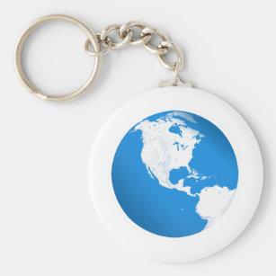 Chaveiro Terra azul do planeta