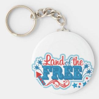 Chaveiro Terra dos presentes americanos Livres, liberdade