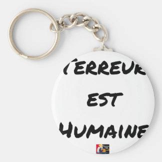 Chaveiro TERROR LESTE HUMANO - Jogos de palavras François