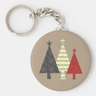 Chaveiro Teste padrão à moda elegante da árvore de Natal