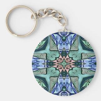 Chaveiro Teste padrão artístico do pêssego moderno do Lilac