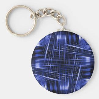 Chaveiro Teste padrão azul dos feixes luminosos