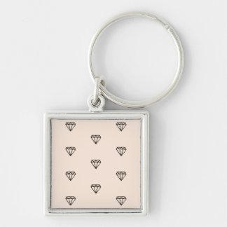 Chaveiro Teste padrão chique bonito do rosa do diamante