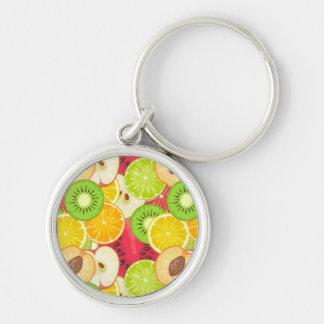 Chaveiro Teste padrão colorido da fruta do divertimento