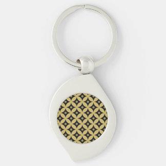 Chaveiro Teste padrão de bolinhas elegante do círculo do