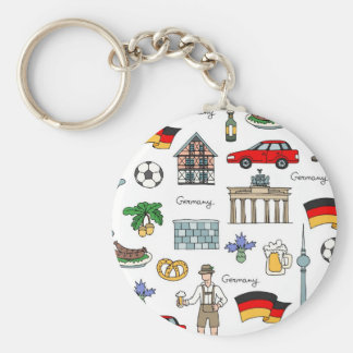 Chaveiro Teste padrão dos símbolos de Alemanha |