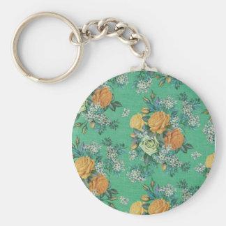Chaveiro teste padrão floral do tema das flores elegantes