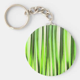 Chaveiro Teste padrão Stripy verde eterno